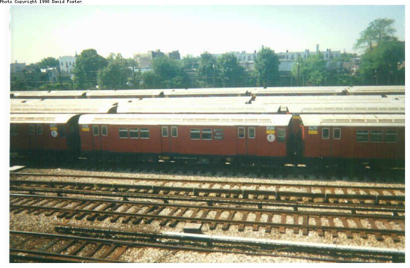 (160k, 824x538)<br><b>Country:</b> United States<br><b>City:</b> New York<br><b>System:</b> New York City Transit<br><b>Location:</b> Westchester Yard<br><b>Route:</b> 6<br><b>Car:</b> R-29 (St. Louis, 1962) 8586 <br><b>Photo by:</b> David Foster<br><b>Date:</b> 1998<br><b>Viewed (this week/total):</b> 0 / 4384