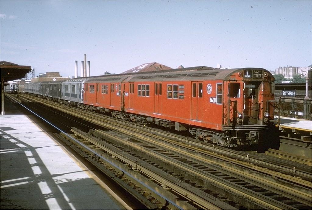 (211k, 1024x689)<br><b>Country:</b> United States<br><b>City:</b> New York<br><b>System:</b> New York City Transit<br><b>Line:</b> IRT West Side Line<br><b>Location:</b> 207th Street <br><b>Route:</b> 1<br><b>Car:</b> R-29 (St. Louis, 1962) 8600 <br><b>Collection of:</b> Joe Testagrose<br><b>Date:</b> 5/21/1972<br><b>Viewed (this week/total):</b> 0 / 4390