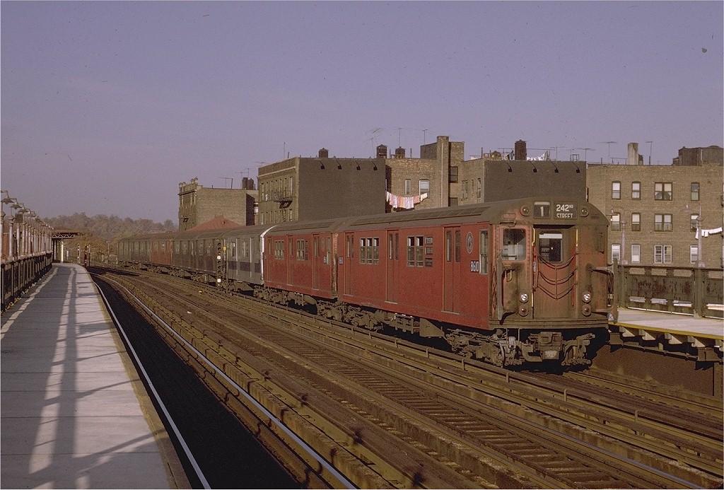 (215k, 1024x693)<br><b>Country:</b> United States<br><b>City:</b> New York<br><b>System:</b> New York City Transit<br><b>Line:</b> IRT West Side Line<br><b>Location:</b> 238th Street <br><b>Route:</b> 1<br><b>Car:</b> R-29 (St. Louis, 1962) 8610 <br><b>Photo by:</b> Joe Testagrose<br><b>Date:</b> 11/7/1970<br><b>Viewed (this week/total):</b> 1 / 3696