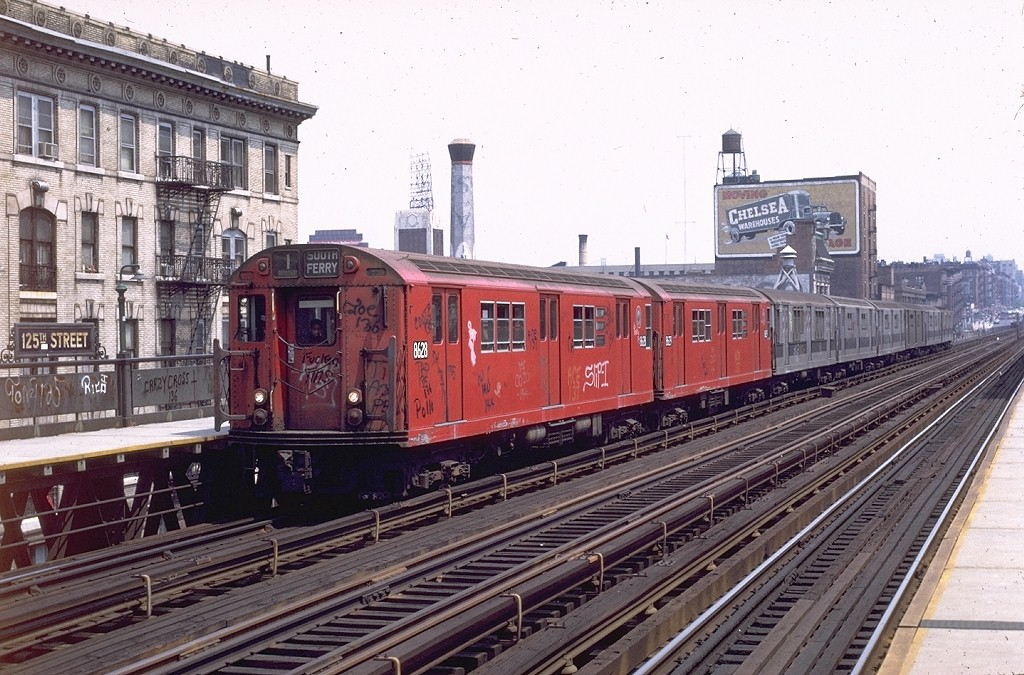 (232k, 1024x675)<br><b>Country:</b> United States<br><b>City:</b> New York<br><b>System:</b> New York City Transit<br><b>Line:</b> IRT West Side Line<br><b>Location:</b> 125th Street <br><b>Route:</b> 1<br><b>Car:</b> R-29 (St. Louis, 1962) 8628 <br><b>Photo by:</b> Joe Testagrose<br><b>Date:</b> 6/4/1972<br><b>Viewed (this week/total):</b> 2 / 3879