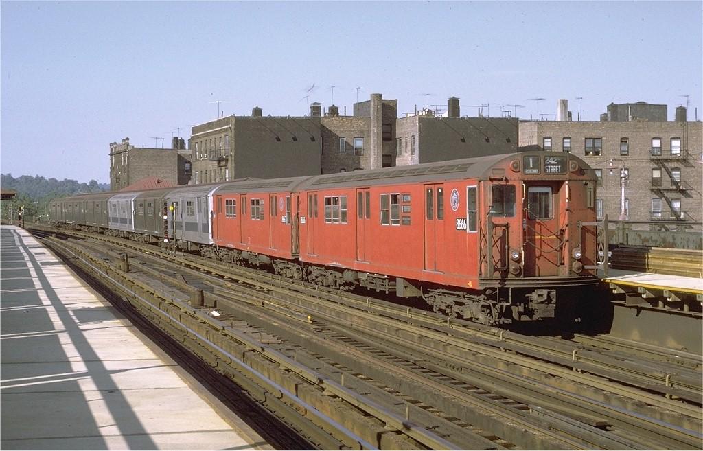 (202k, 1024x657)<br><b>Country:</b> United States<br><b>City:</b> New York<br><b>System:</b> New York City Transit<br><b>Line:</b> IRT West Side Line<br><b>Location:</b> 238th Street <br><b>Route:</b> 1<br><b>Car:</b> R-29 (St. Louis, 1962) 8666 <br><b>Photo by:</b> Joe Testagrose<br><b>Date:</b> 8/14/1971<br><b>Viewed (this week/total):</b> 2 / 3802