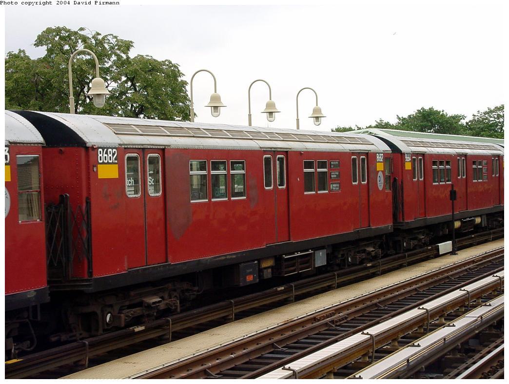 (135k, 1044x788)<br><b>Country:</b> United States<br><b>City:</b> New York<br><b>System:</b> New York City Transit<br><b>Line:</b> IRT Pelham Line<br><b>Location:</b> Westchester Square <br><b>Route:</b> 6<br><b>Car:</b> R-29 (St. Louis, 1962) 8682 <br><b>Photo by:</b> David Pirmann<br><b>Date:</b> 7/29/2000<br><b>Viewed (this week/total):</b> 2 / 3959