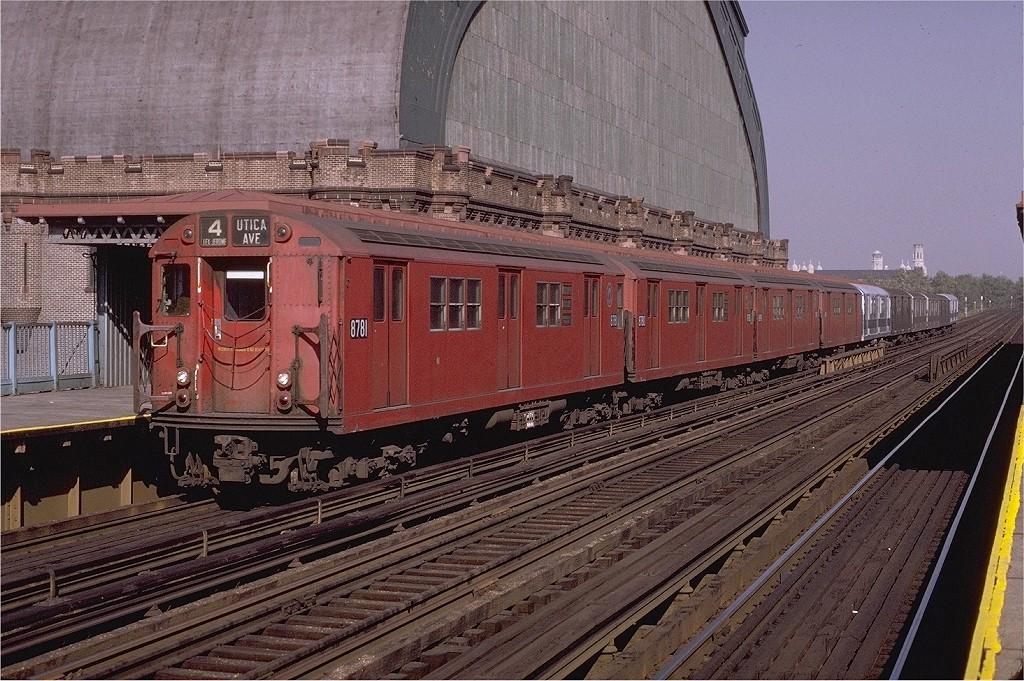 (259k, 1024x681)<br><b>Country:</b> United States<br><b>City:</b> New York<br><b>System:</b> New York City Transit<br><b>Line:</b> IRT Woodlawn Line<br><b>Location:</b> Kingsbridge Road <br><b>Route:</b> 4<br><b>Car:</b> R-29 (St. Louis, 1962) 8781 <br><b>Photo by:</b> Joe Testagrose<br><b>Date:</b> 11/7/1970<br><b>Viewed (this week/total):</b> 0 / 4307