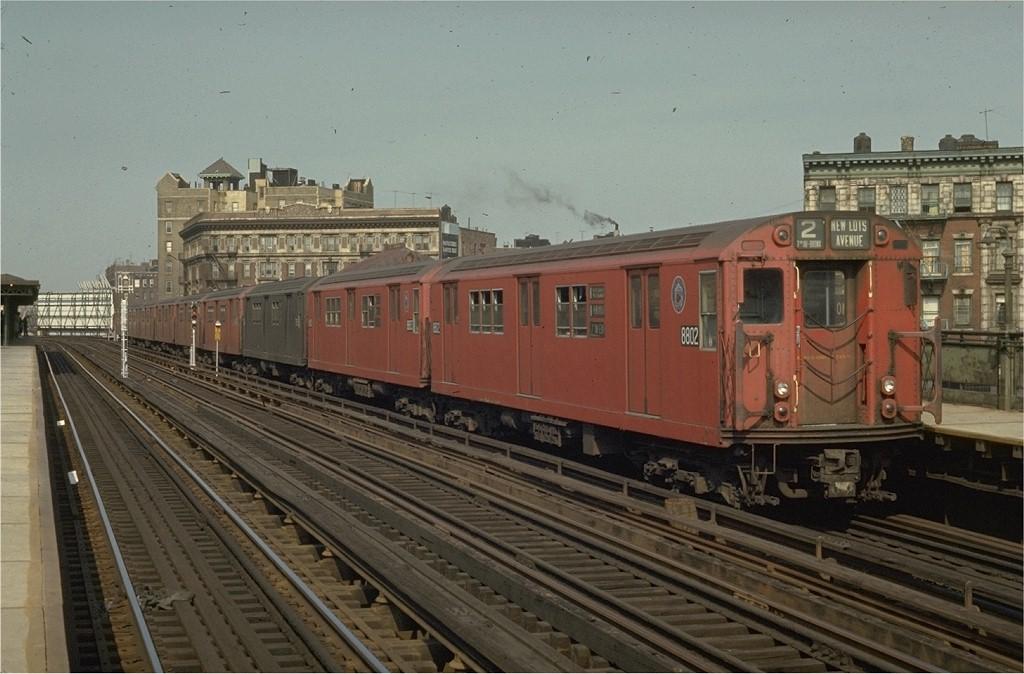 (182k, 1024x674)<br><b>Country:</b> United States<br><b>City:</b> New York<br><b>System:</b> New York City Transit<br><b>Line:</b> IRT White Plains Road Line<br><b>Location:</b> Simpson Street <br><b>Route:</b> 3<br><b>Car:</b> R-29 (St. Louis, 1962) 8802 <br><b>Photo by:</b> Joe Testagrose<br><b>Date:</b> 5/2/1970<br><b>Viewed (this week/total):</b> 1 / 4879
