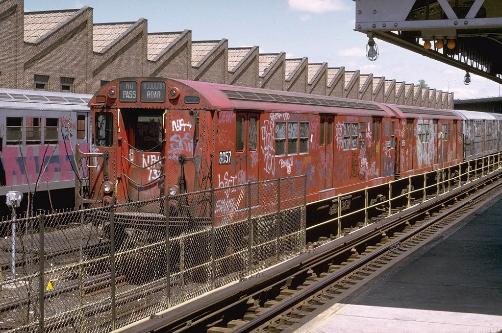 (293k, 1024x680)<br><b>Country:</b> United States<br><b>City:</b> New York<br><b>System:</b> New York City Transit<br><b>Location:</b> East 180th Street Yard<br><b>Car:</b> R-33 Main Line (St. Louis, 1962-63) 8857 <br><b>Photo by:</b> Joe Testagrose<br><b>Date:</b> 5/6/1973<br><b>Viewed (this week/total):</b> 4 / 5690