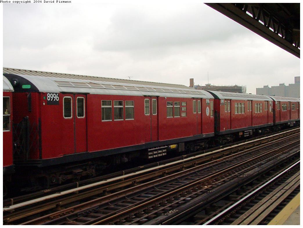 (115k, 1044x788)<br><b>Country:</b> United States<br><b>City:</b> New York<br><b>System:</b> New York City Transit<br><b>Line:</b> IRT White Plains Road Line<br><b>Location:</b> Intervale Avenue <br><b>Route:</b> 2<br><b>Car:</b> R-33 Main Line (St. Louis, 1962-63) 8996 <br><b>Photo by:</b> David Pirmann<br><b>Date:</b> 7/29/2000<br><b>Viewed (this week/total):</b> 2 / 4700