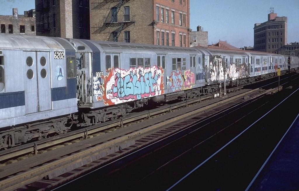 (210k, 1024x654)<br><b>Country:</b> United States<br><b>City:</b> New York<br><b>System:</b> New York City Transit<br><b>Line:</b> IRT White Plains Road Line<br><b>Location:</b> Simpson Street <br><b>Route:</b> 2<br><b>Car:</b> R-33 Main Line (St. Louis, 1962-63) 9003 <br><b>Photo by:</b> Doug Grotjahn<br><b>Collection of:</b> Joe Testagrose<br><b>Date:</b> 1/4/1975<br><b>Viewed (this week/total):</b> 0 / 6484