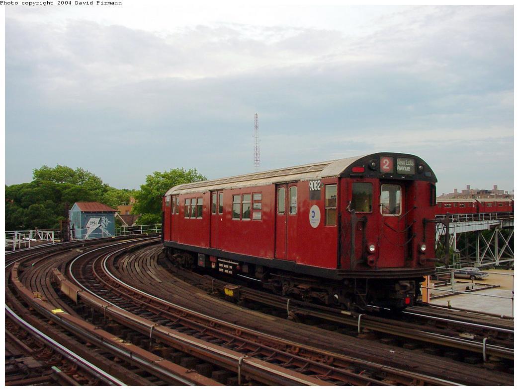 (114k, 1044x788)<br><b>Country:</b> United States<br><b>City:</b> New York<br><b>System:</b> New York City Transit<br><b>Line:</b> IRT White Plains Road Line<br><b>Location:</b> West Farms Sq./East Tremont Ave./177th St. <br><b>Route:</b> 2<br><b>Car:</b> R-33 Main Line (St. Louis, 1962-63) 9082 <br><b>Photo by:</b> David Pirmann<br><b>Date:</b> 7/3/2001<br><b>Viewed (this week/total):</b> 3 / 3331