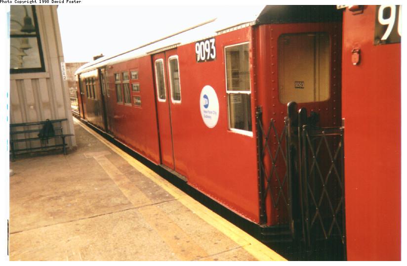 (129k, 824x538)<br><b>Country:</b> United States<br><b>City:</b> New York<br><b>System:</b> New York City Transit<br><b>Line:</b> IRT White Plains Road Line<br><b>Location:</b> 238th Street (Nereid Avenue) <br><b>Route:</b> 2<br><b>Car:</b> R-33 Main Line (St. Louis, 1962-63) 9093 <br><b>Photo by:</b> David Foster<br><b>Date:</b> 1998<br><b>Viewed (this week/total):</b> 0 / 5107