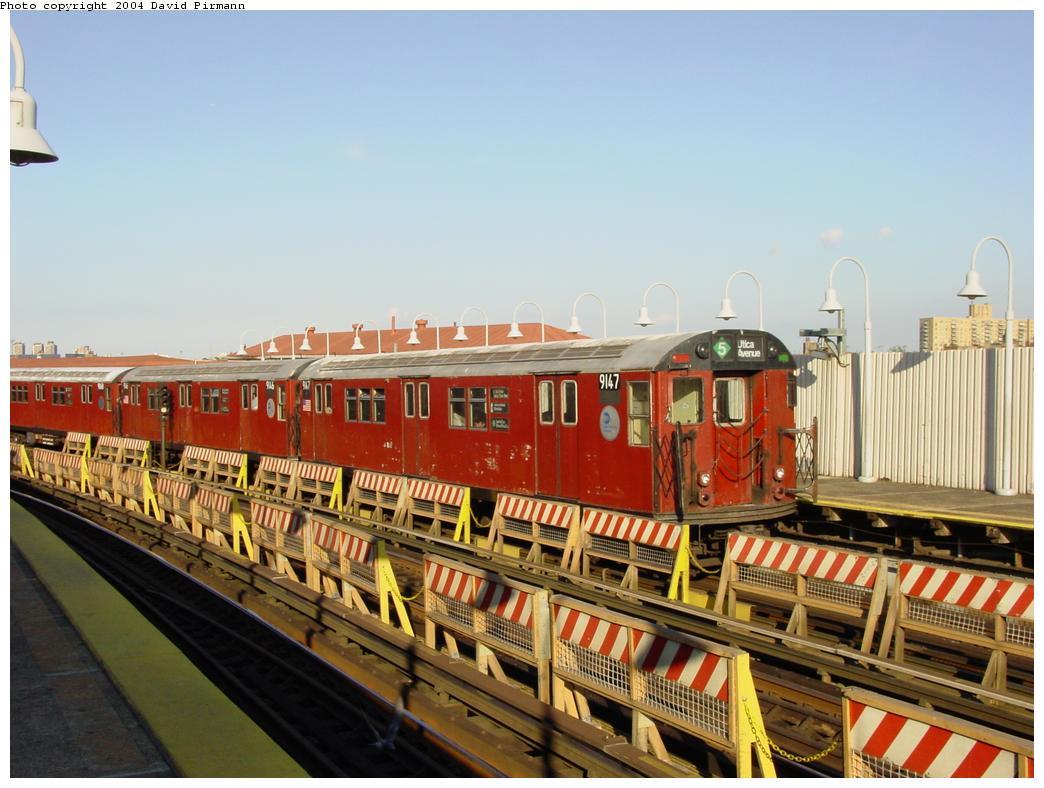 (121k, 1044x788)<br><b>Country:</b> United States<br><b>City:</b> New York<br><b>System:</b> New York City Transit<br><b>Line:</b> IRT White Plains Road Line<br><b>Location:</b> West Farms Sq./East Tremont Ave./177th St. <br><b>Route:</b> 5<br><b>Car:</b> R-33 Main Line (St. Louis, 1962-63) 9147 <br><b>Photo by:</b> David Pirmann<br><b>Date:</b> 8/21/2002<br><b>Viewed (this week/total):</b> 2 / 4565