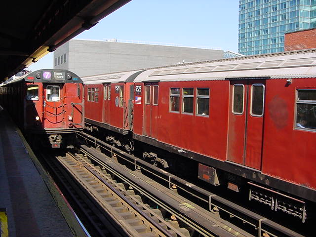 (61k, 640x480)<br><b>Country:</b> United States<br><b>City:</b> New York<br><b>System:</b> New York City Transit<br><b>Line:</b> IRT Flushing Line<br><b>Location:</b> Court House Square/45th Road <br><b>Route:</b> 7<br><b>Car:</b> R-36 Main Line (St. Louis, 1964) 9528 <br><b>Photo by:</b> Salaam Allah<br><b>Date:</b> 9/17/2002<br><b>Viewed (this week/total):</b> 3 / 3360