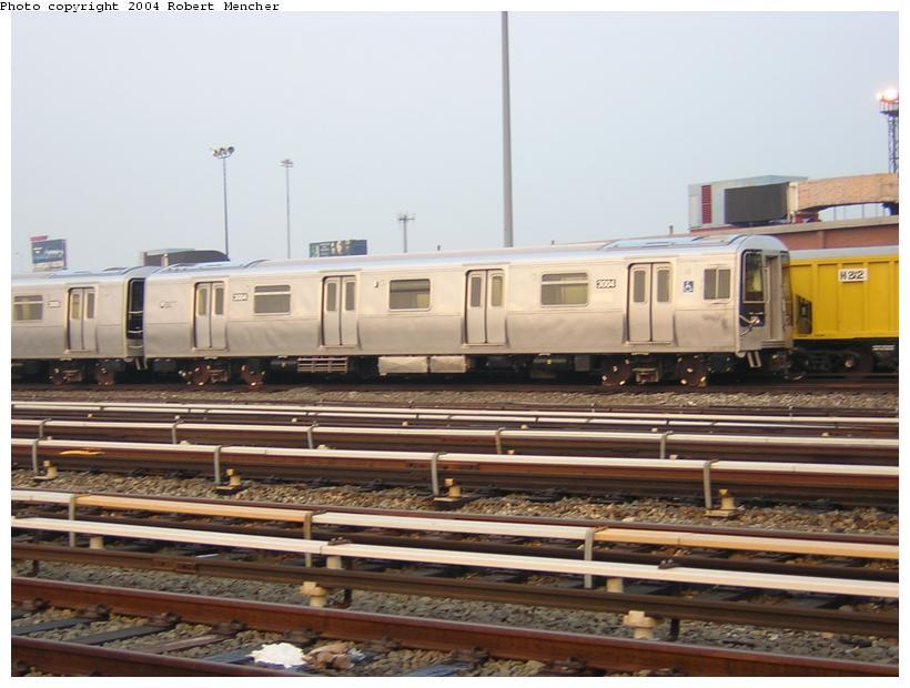 (104k, 820x620)<br><b>Country:</b> United States<br><b>City:</b> New York<br><b>System:</b> New York City Transit<br><b>Location:</b> Coney Island Yard<br><b>Car:</b> R-110B (Bombardier, 1992) 3004 <br><b>Photo by:</b> Robert Mencher<br><b>Date:</b> 5/12/2004<br><b>Viewed (this week/total):</b> 4 / 4612