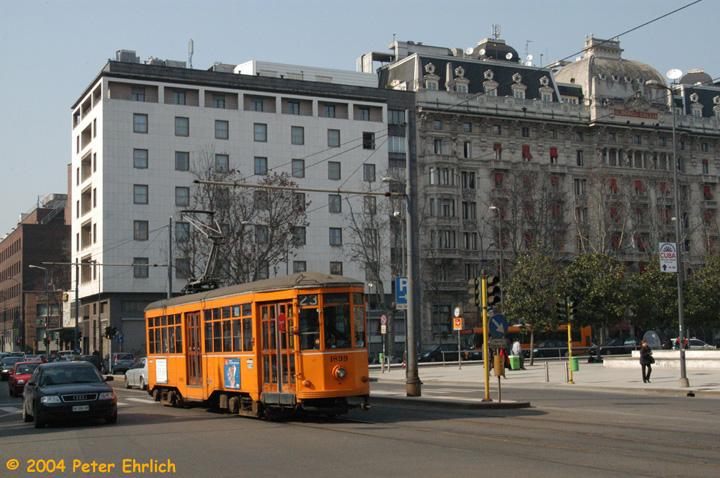 (168k, 720x478)<br><b>Country:</b> Italy<br><b>City:</b> Milan<br><b>System:</b> Azienda Trasporti Milanesi (ATM)<br><b>Location:</b> Stazione Centrale <br><b>Route:</b> 23<br><b>Car:</b> Milan Milano/Peter Witt (1927-1930)  1899 <br><b>Photo by:</b> Peter Ehrlich<br><b>Date:</b> 3/15/2004<br><b>Viewed (this week/total):</b> 0 / 1447