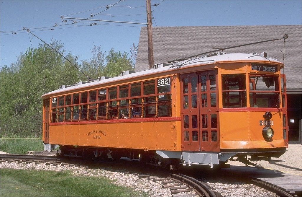 (231k, 1024x667)<br><b>Country:</b> United States<br><b>City:</b> Kennebunk, ME<br><b>System:</b> Seashore Trolley Museum <br><b>Car:</b> MBTA 5821 <br><b>Photo by:</b> Gerald H. Landau<br><b>Collection of:</b> Joe Testagrose<br><b>Date:</b> 5/24/1981<br><b>Viewed (this week/total):</b> 1 / 1375