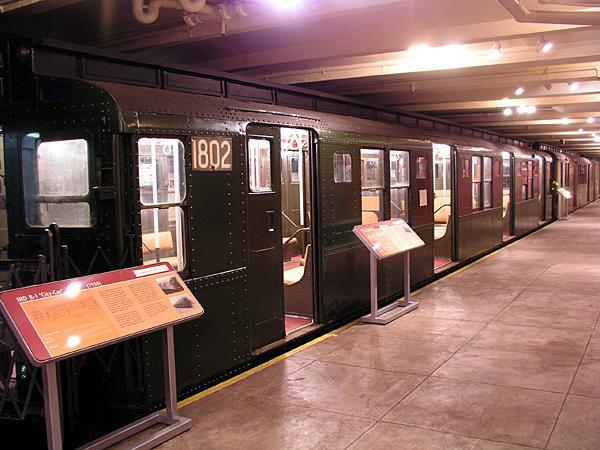 (71k, 600x450)<br><b>Country:</b> United States<br><b>City:</b> New York<br><b>System:</b> New York City Transit<br><b>Location:</b> New York Transit Museum<br><b>Car:</b> R-9 (Pressed Steel, 1940)  1802 <br><b>Photo by:</b> Trevor Logan<br><b>Date:</b> 5/16/2004<br><b>Viewed (this week/total):</b> 0 / 7162