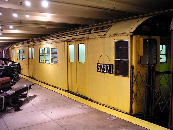 (68k, 600x450)<br><b>Country:</b> United States<br><b>City:</b> New York<br><b>System:</b> New York City Transit<br><b>Location:</b> New York Transit Museum<br><b>Car:</b> R-22 (St. Louis, 1957-58) 37371 <br><b>Photo by:</b> Trevor Logan<br><b>Date:</b> 5/16/2004<br><b>Viewed (this week/total):</b> 5 / 8684
