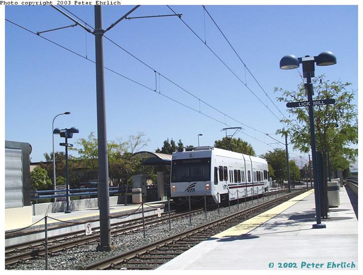 (76k, 737x560)<br><b>Country:</b> United States<br><b>City:</b> San Jose, CA<br><b>System:</b> Santa Clara VTA<br><b>Line:</b> VTA Tasman West/Mountain View<br><b>Location:</b> Lick Mill <br><b>Car:</b> VTA Kinki-Sharyo 917 <br><b>Photo by:</b> Peter Ehrlich<br><b>Date:</b> 7/16/2002<br><b>Viewed (this week/total):</b> 0 / 1405