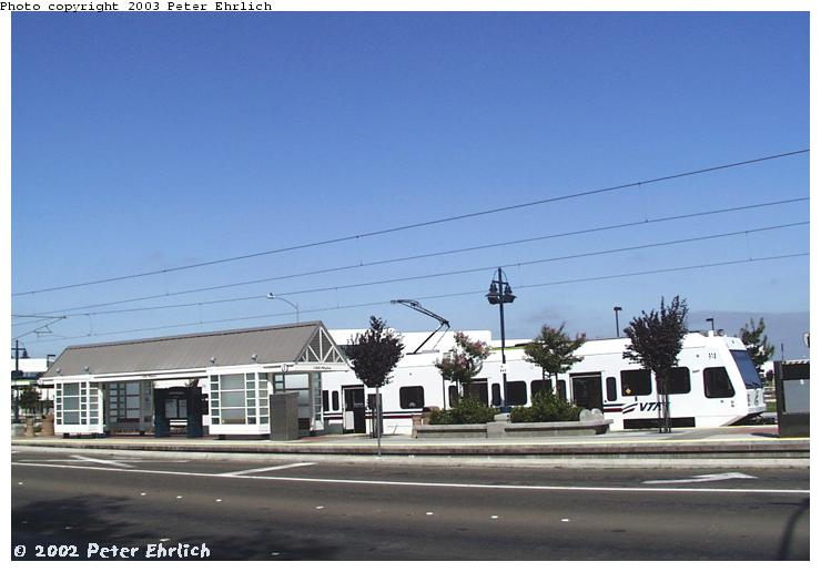 (53k, 740x516)<br><b>Country:</b> United States<br><b>City:</b> San Jose, CA<br><b>System:</b> Santa Clara VTA<br><b>Line:</b> VTA Tasman East/Capitol<br><b>Location:</b> I880-Milpitas <br><b>Car:</b> VTA Kinki-Sharyo 918 <br><b>Photo by:</b> Peter Ehrlich<br><b>Date:</b> 7/16/2002<br><b>Viewed (this week/total):</b> 0 / 1366