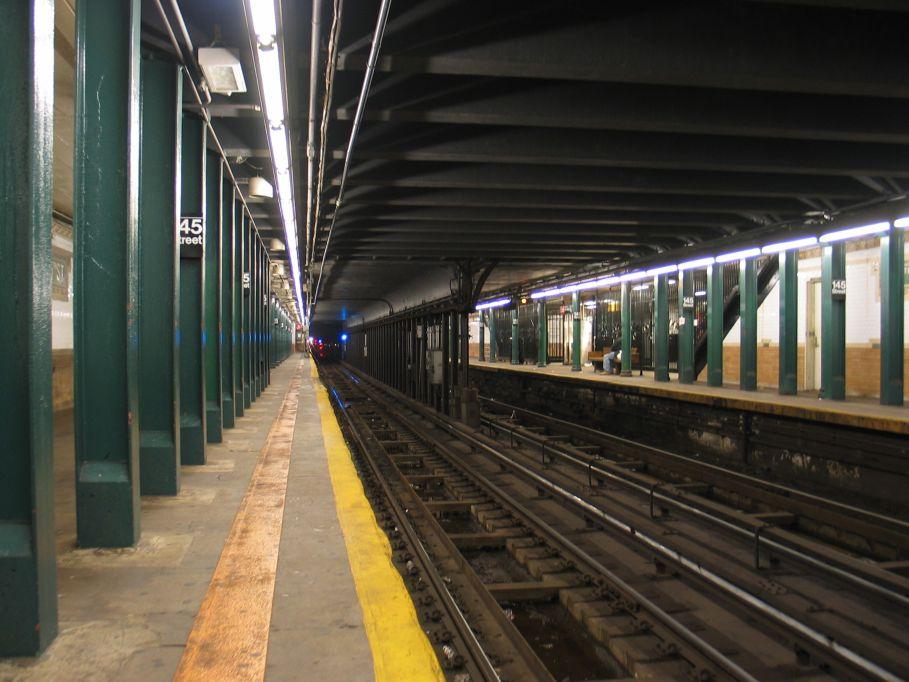 (98k, 909x682)<br><b>Country:</b> United States<br><b>City:</b> New York<br><b>System:</b> New York City Transit<br><b>Line:</b> IRT Lenox Line<br><b>Location:</b> 145th Street <br><b>Photo by:</b> Brian Weinberg<br><b>Date:</b> 5/17/2004<br><b>Viewed (this week/total):</b> 7 / 6586