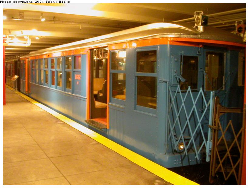 (106k, 820x620)<br><b>Country:</b> United States<br><b>City:</b> New York<br><b>System:</b> New York City Transit<br><b>Location:</b> New York Transit Museum<br><b>Car:</b> BMT Q 1612C <br><b>Photo by:</b> Frank Hicks<br><b>Date:</b> 5/18/2004<br><b>Viewed (this week/total):</b> 4 / 6246