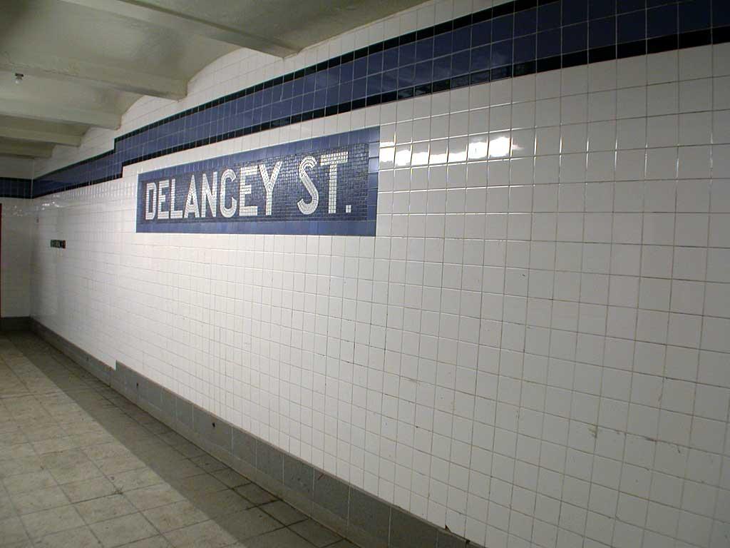 (56k, 1024x768)<br><b>Country:</b> United States<br><b>City:</b> New York<br><b>System:</b> New York City Transit<br><b>Line:</b> IND 6th Avenue Line<br><b>Location:</b> Delancey Street <br><b>Photo by:</b> Josh Lubchansky<br><b>Date:</b> 5/2004<br><b>Notes:</b> Name tablet<br><b>Viewed (this week/total):</b> 1 / 2945