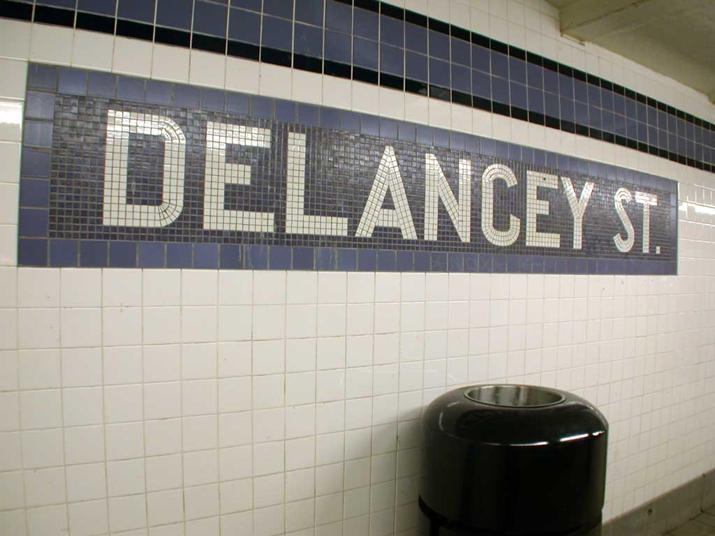 (62k, 1024x768)<br><b>Country:</b> United States<br><b>City:</b> New York<br><b>System:</b> New York City Transit<br><b>Line:</b> IND 6th Avenue Line<br><b>Location:</b> Delancey Street <br><b>Photo by:</b> Josh Lubchansky<br><b>Date:</b> 5/2004<br><b>Notes:</b> Name tablet<br><b>Viewed (this week/total):</b> 0 / 2854