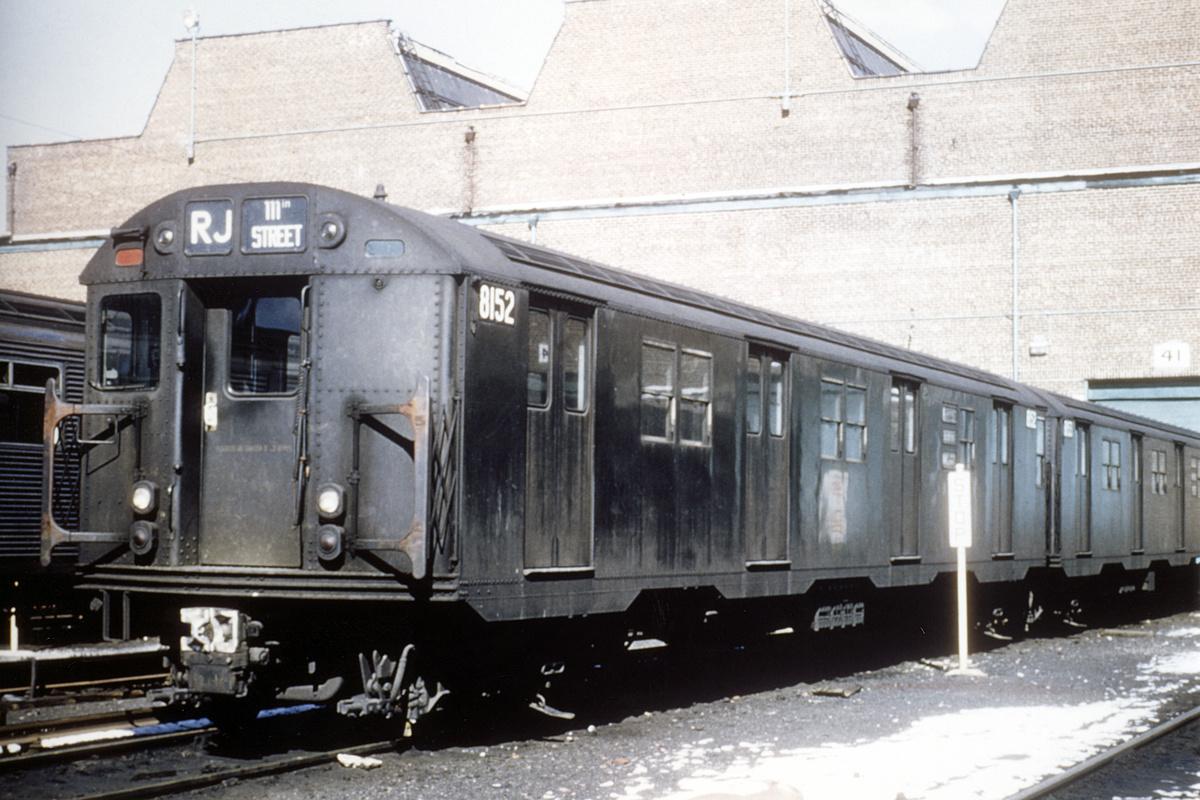 (351k, 1024x683)<br><b>Country:</b> United States<br><b>City:</b> New York<br><b>System:</b> New York City Transit<br><b>Location:</b> Coney Island Yard<br><b>Car:</b> R-27 (St. Louis, 1960)  8152 <br><b>Collection of:</b> David Pirmann<br><b>Viewed (this week/total):</b> 1 / 3221