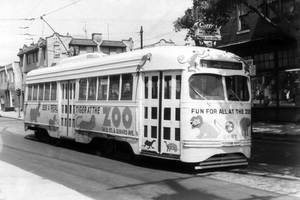 (214k, 1024x683)<br><b>Country:</b> United States<br><b>City:</b> Philadelphia, PA<br><b>System:</b> SEPTA (or Predecessor)<br><b>Line:</b> Rt. 15-Girard<br><b>Location:</b> Girard/63rd <br><b>Car:</b> PTC/SEPTA Wartime Air-car PCC (St.Louis, 1942)  2667 <br><b>Collection of:</b> David Pirmann<br><b>Viewed (this week/total):</b> 0 / 2218