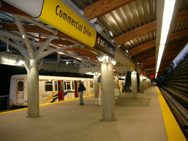 (110k, 600x450)<br><b>Country:</b> Canada<br><b>City:</b> Vancouver<br><b>System:</b> SkyTrain<br><b>Line:</b> Millennium Line<br><b>Location:</b> Commercial Drive<br><b>Photo by:</b> Adam J. Benjamin<br><b>Date:</b> 1/19/2003<br><b>Viewed (this week/total):</b> 1 / 2812
