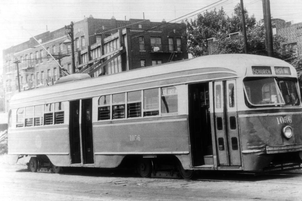 (229k, 1024x682)<br><b>Country:</b> United States<br><b>City:</b> New York<br><b>System:</b> Brooklyn & Queens Transit<br><b>Line:</b> 35/Church <br><b>Location:</b> Hegeman Ave/Bristol Loop <br><b>Car:</b> Brooklyn & Queens Transit PCC (St. Louis Car, 1936)  1056 <br><b>Collection of:</b> David Pirmann<br><b>Viewed (this week/total):</b> 1 / 1287