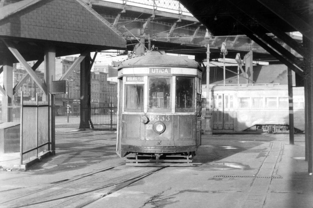 (161k, 1024x693)<br><b>Country:</b> United States<br><b>City:</b> New York<br><b>System:</b> Brooklyn & Queens Transit<br><b>Location:</b> Williamsburg Bridge Plaza<br><b>Car:</b> B&QT/BMT 8333 <br><b>Collection of:</b> David Pirmann<br><b>Viewed (this week/total):</b> 1 / 1733