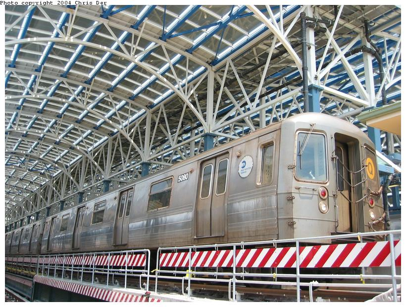 (136k, 820x620)<br><b>Country:</b> United States<br><b>City:</b> New York<br><b>System:</b> New York City Transit<br><b>Location:</b> Coney Island/Stillwell Avenue<br><b>Route:</b> Q<br><b>Car:</b> R-68A (Kawasaki, 1988-1989)  5080 <br><b>Photo by:</b> Chris Der<br><b>Date:</b> 5/23/2004<br><b>Viewed (this week/total):</b> 0 / 4085