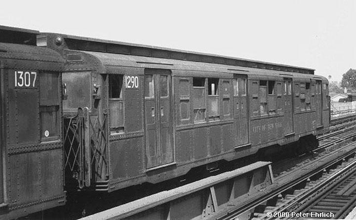(52k, 720x445)<br><b>Country:</b> United States<br><b>City:</b> New York<br><b>System:</b> New York City Transit<br><b>Line:</b> BMT Culver Line<br><b>Route:</b> F<br><b>Car:</b> R-6-2 (Pullman, 1936)  1290 <br><b>Photo by:</b> Peter Ehrlich<br><b>Notes:</b> Rush hour express<br><b>Viewed (this week/total):</b> 3 / 3367