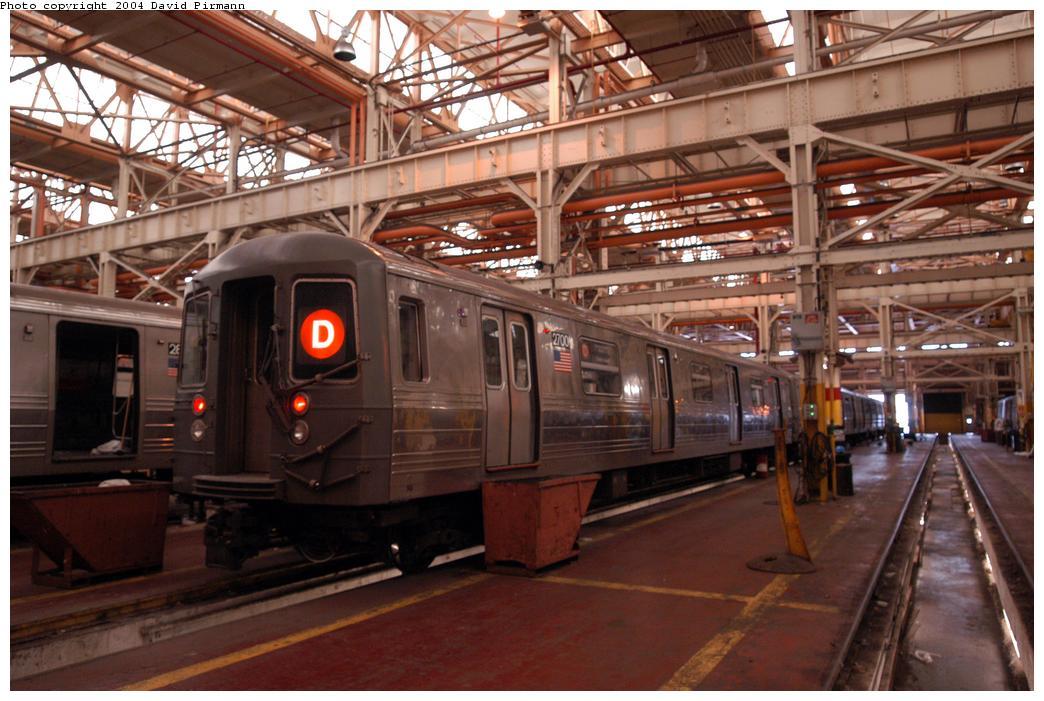 (161k, 1044x701)<br><b>Country:</b> United States<br><b>City:</b> New York<br><b>System:</b> New York City Transit<br><b>Location:</b> Coney Island Shop/Overhaul & Repair Shop<br><b>Car:</b> R-68 (Westinghouse-Amrail, 1986-1988)  2700 <br><b>Photo by:</b> David Pirmann<br><b>Date:</b> 6/13/2004<br><b>Viewed (this week/total):</b> 0 / 3473