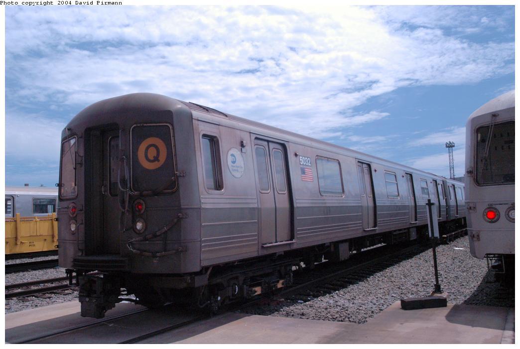 (138k, 1044x701)<br><b>Country:</b> United States<br><b>City:</b> New York<br><b>System:</b> New York City Transit<br><b>Location:</b> Coney Island Yard<br><b>Car:</b> R-68A (Kawasaki, 1988-1989)  5032 <br><b>Photo by:</b> David Pirmann<br><b>Date:</b> 6/13/2004<br><b>Viewed (this week/total):</b> 0 / 3325