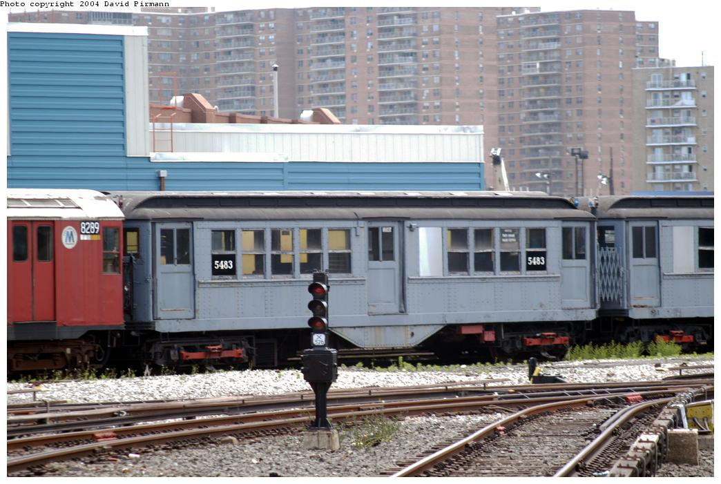 (174k, 1044x701)<br><b>Country:</b> United States<br><b>City:</b> New York<br><b>System:</b> New York City Transit<br><b>Location:</b> Coney Island Yard-Museum Yard<br><b>Car:</b> Low-V (Museum Train) 5483 <br><b>Photo by:</b> David Pirmann<br><b>Date:</b> 6/13/2004<br><b>Viewed (this week/total):</b> 1 / 5975