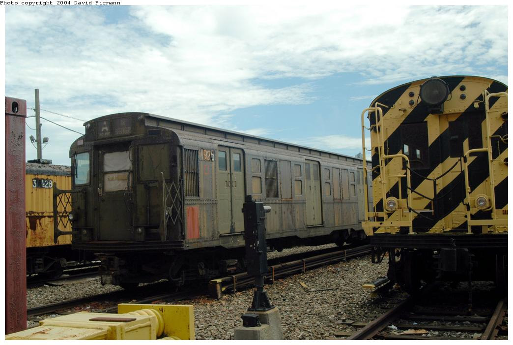 (153k, 1044x701)<br><b>Country:</b> United States<br><b>City:</b> New York<br><b>System:</b> New York City Transit<br><b>Location:</b> Coney Island Yard-Museum Yard<br><b>Car:</b> R-6-3 (American Car & Foundry, 1935)  925 <br><b>Photo by:</b> David Pirmann<br><b>Date:</b> 6/13/2004<br><b>Viewed (this week/total):</b> 3 / 4442