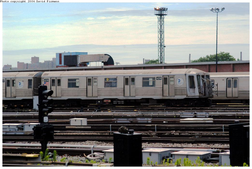(155k, 1044x701)<br><b>Country:</b> United States<br><b>City:</b> New York<br><b>System:</b> New York City Transit<br><b>Location:</b> Coney Island Yard<br><b>Car:</b> R-40 (St. Louis, 1968)  4216 <br><b>Photo by:</b> David Pirmann<br><b>Date:</b> 6/13/2004<br><b>Viewed (this week/total):</b> 3 / 3917