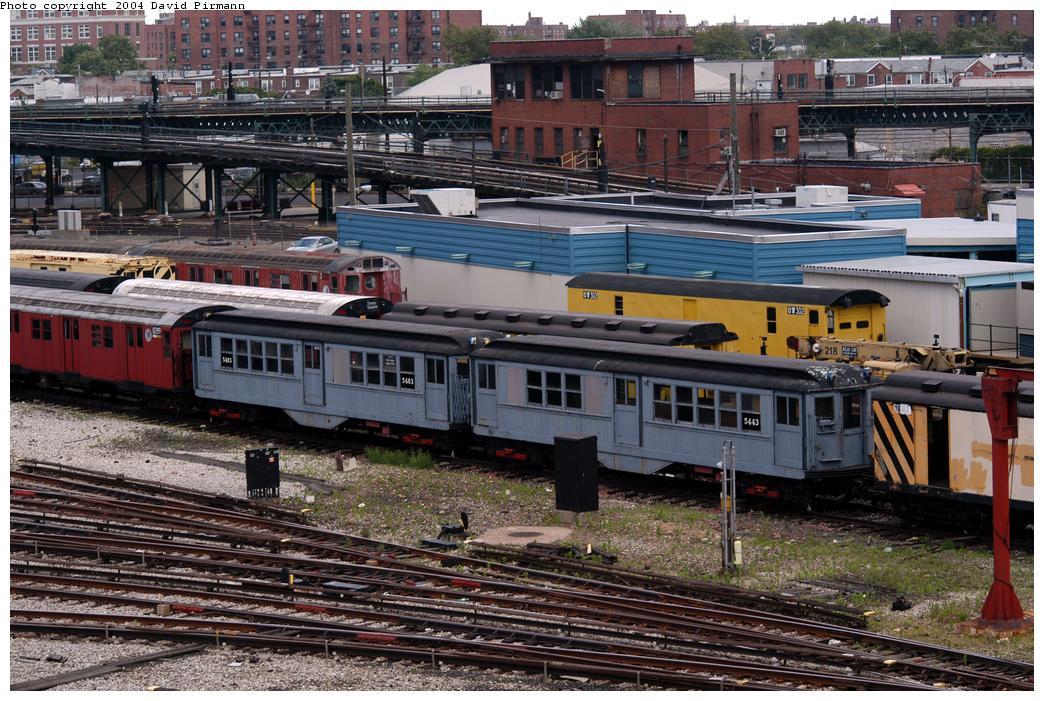 (205k, 1044x701)<br><b>Country:</b> United States<br><b>City:</b> New York<br><b>System:</b> New York City Transit<br><b>Location:</b> Coney Island Yard-Museum Yard<br><b>Car:</b> Low-V (Museum Train) 5483/5443 <br><b>Photo by:</b> David Pirmann<br><b>Date:</b> 6/13/2004<br><b>Viewed (this week/total):</b> 0 / 4882