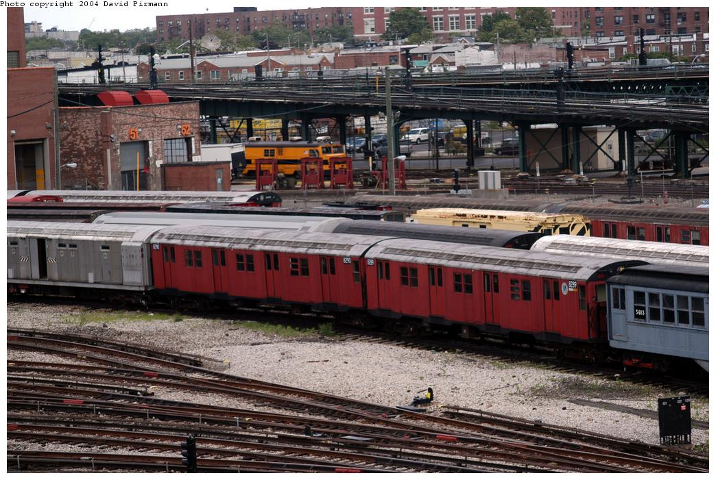 (198k, 1044x701)<br><b>Country:</b> United States<br><b>City:</b> New York<br><b>System:</b> New York City Transit<br><b>Location:</b> Coney Island Yard-Museum Yard<br><b>Car:</b> R-30 (St. Louis, 1961) 8289/8290 <br><b>Photo by:</b> David Pirmann<br><b>Date:</b> 6/13/2004<br><b>Viewed (this week/total):</b> 0 / 5429