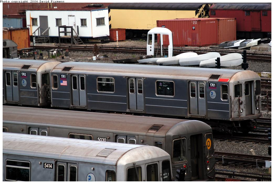 (172k, 1044x701)<br><b>Country:</b> United States<br><b>City:</b> New York<br><b>System:</b> New York City Transit<br><b>Location:</b> Coney Island Yard<br><b>Car:</b> R-62A (Bombardier, 1984-1987)  1761 <br><b>Photo by:</b> David Pirmann<br><b>Date:</b> 6/13/2004<br><b>Viewed (this week/total):</b> 1 / 3459