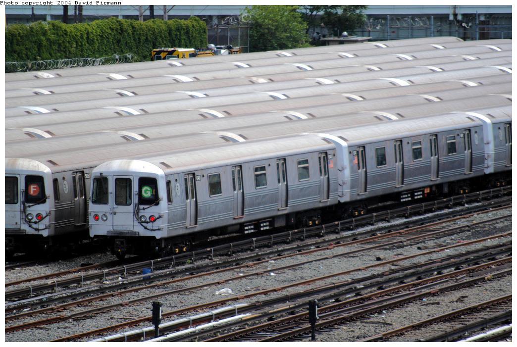 (182k, 1044x701)<br><b>Country:</b> United States<br><b>City:</b> New York<br><b>System:</b> New York City Transit<br><b>Location:</b> Coney Island Yard<br><b>Car:</b> R-46 (Pullman-Standard, 1974-75) 6140 <br><b>Photo by:</b> David Pirmann<br><b>Date:</b> 6/13/2004<br><b>Viewed (this week/total):</b> 0 / 6577