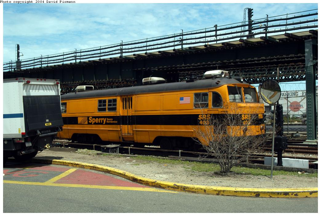 (190k, 1044x701)<br><b>Country:</b> United States<br><b>City:</b> New York<br><b>System:</b> New York City Transit<br><b>Location:</b> Coney Island Yard<br><b>Car:</b> Sperry Rail Service  403 <br><b>Photo by:</b> David Pirmann<br><b>Date:</b> 6/13/2004<br><b>Viewed (this week/total):</b> 0 / 3789