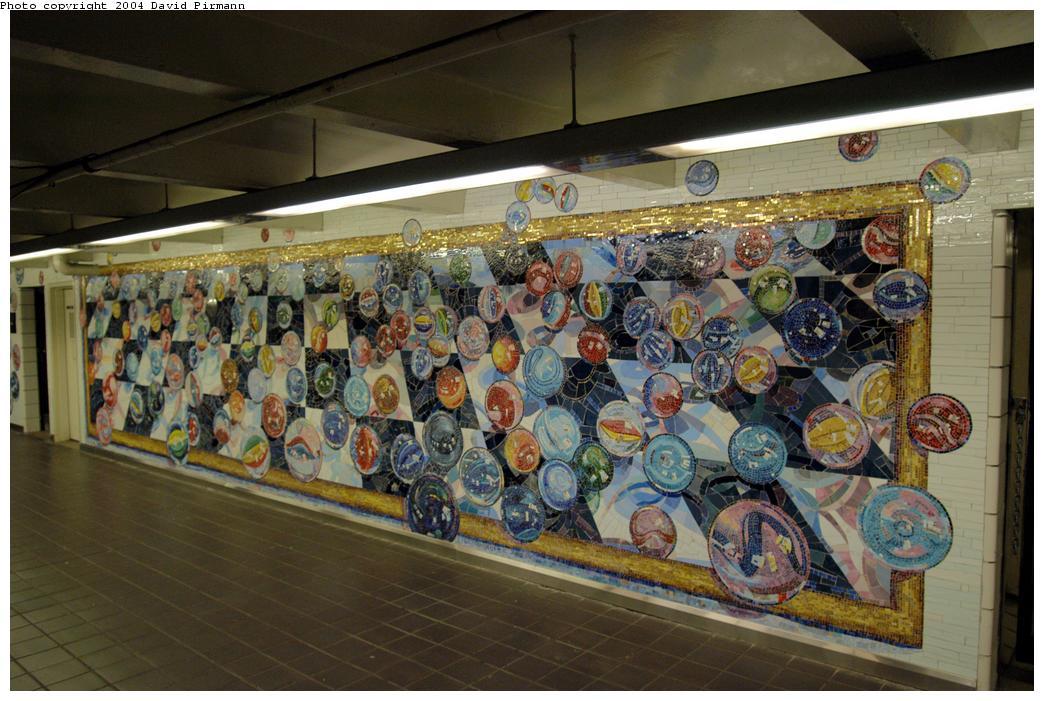 (171k, 1044x701)<br><b>Country:</b> United States<br><b>City:</b> New York<br><b>System:</b> New York City Transit<br><b>Line:</b> IND 8th Avenue Line<br><b>Location:</b> 42nd Street/Port Authority Bus Terminal <br><b>Photo by:</b> David Pirmann<br><b>Date:</b> 6/19/2004<br><b>Artwork:</b> <i>Losing My Marbles</i>, Lisa Dinhofer (2003).<br><b>Viewed (this week/total):</b> 4 / 5521