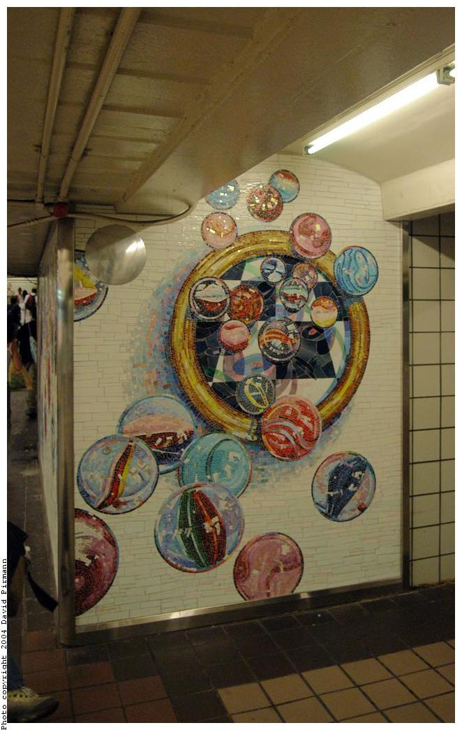 (149k, 662x1044)<br><b>Country:</b> United States<br><b>City:</b> New York<br><b>System:</b> New York City Transit<br><b>Line:</b> IND 8th Avenue Line<br><b>Location:</b> 42nd Street/Port Authority Bus Terminal <br><b>Photo by:</b> David Pirmann<br><b>Date:</b> 6/19/2004<br><b>Artwork:</b> <i>Losing My Marbles</i>, Lisa Dinhofer (2003).<br><b>Viewed (this week/total):</b> 2 / 4890