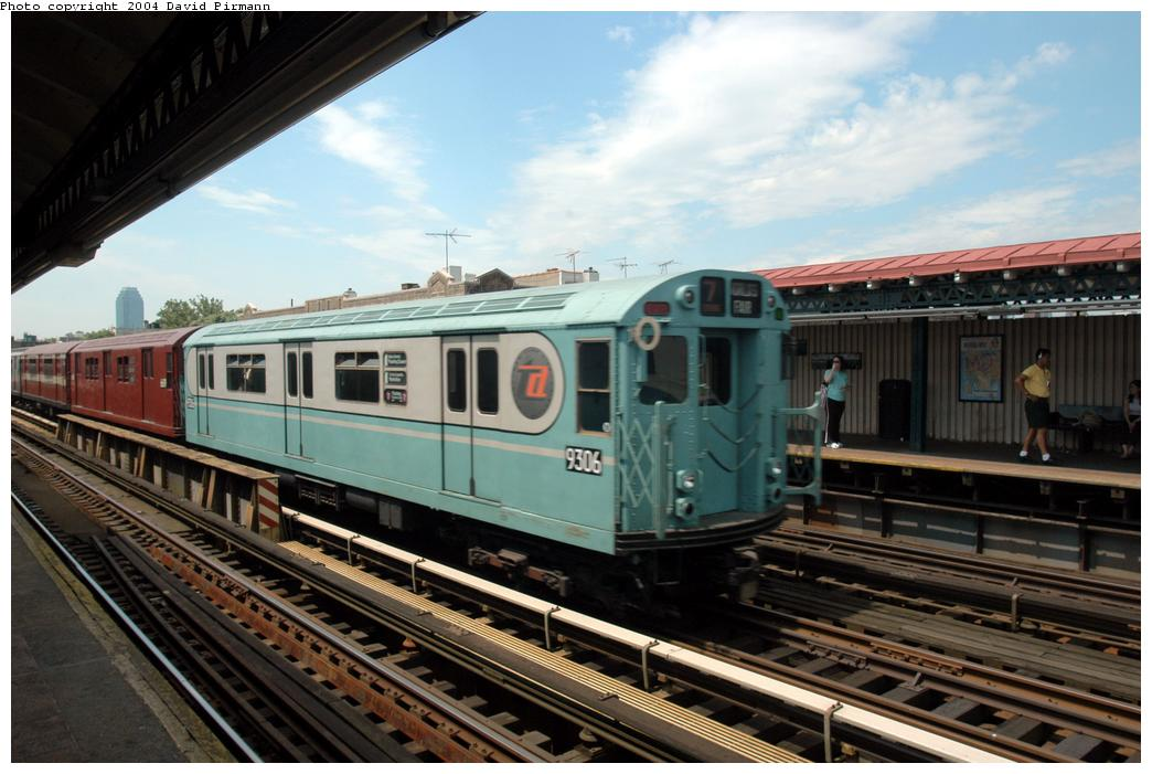 (162k, 1044x701)<br><b>Country:</b> United States<br><b>City:</b> New York<br><b>System:</b> New York City Transit<br><b>Line:</b> BMT Astoria Line<br><b>Location:</b> Broadway <br><b>Route:</b> Fan Trip<br><b>Car:</b> R-33 World's Fair (St. Louis, 1963-64) 9306 <br><b>Photo by:</b> David Pirmann<br><b>Date:</b> 6/19/2004<br><b>Viewed (this week/total):</b> 1 / 2736