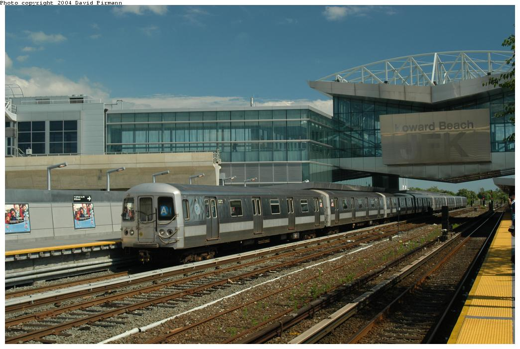 (164k, 1044x701)<br><b>Country:</b> United States<br><b>City:</b> New York<br><b>System:</b> New York City Transit<br><b>Line:</b> IND Rockaway<br><b>Location:</b> Howard Beach <br><b>Route:</b> A<br><b>Car:</b> R-44 (St. Louis, 1971-73) 5372 <br><b>Photo by:</b> David Pirmann<br><b>Date:</b> 6/19/2004<br><b>Viewed (this week/total):</b> 0 / 5369