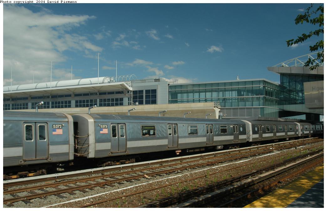 (148k, 1044x673)<br><b>Country:</b> United States<br><b>City:</b> New York<br><b>System:</b> New York City Transit<br><b>Line:</b> IND Rockaway<br><b>Location:</b> Howard Beach <br><b>Route:</b> A<br><b>Car:</b> R-44 (St. Louis, 1971-73) 5373 <br><b>Photo by:</b> David Pirmann<br><b>Date:</b> 6/19/2004<br><b>Viewed (this week/total):</b> 2 / 4263