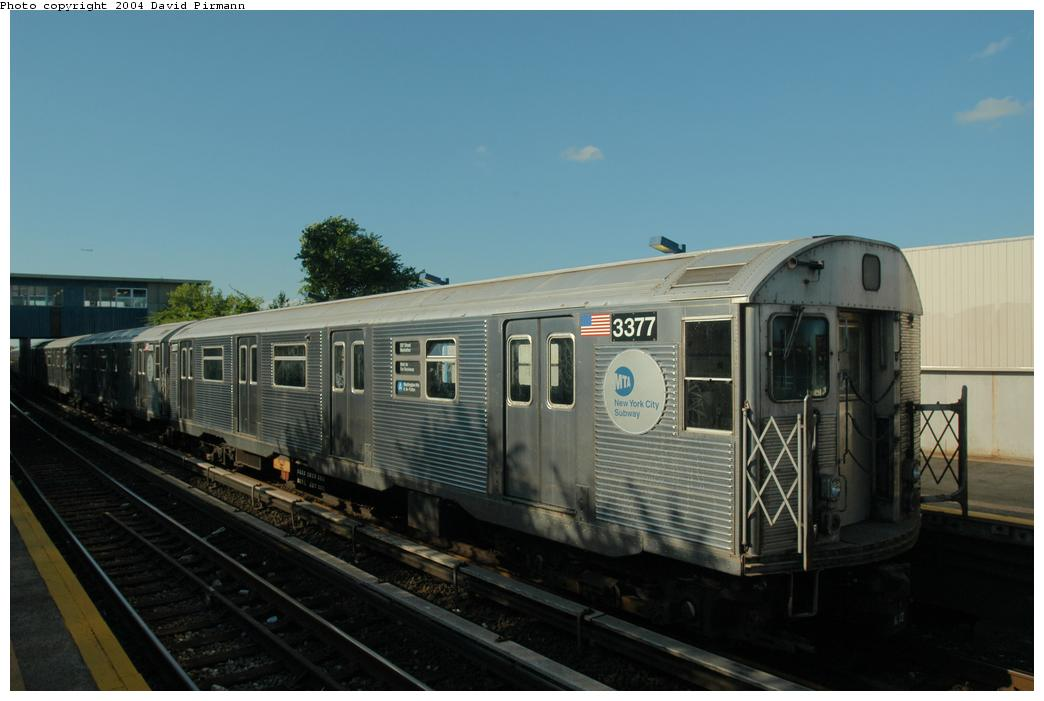 (120k, 1044x701)<br><b>Country:</b> United States<br><b>City:</b> New York<br><b>System:</b> New York City Transit<br><b>Line:</b> IND Rockaway<br><b>Location:</b> Broad Channel <br><b>Route:</b> A<br><b>Car:</b> R-32 (Budd, 1964)  3377 <br><b>Photo by:</b> David Pirmann<br><b>Date:</b> 6/19/2004<br><b>Viewed (this week/total):</b> 9 / 6667