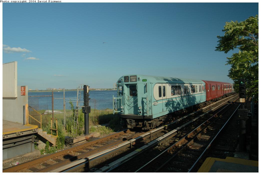 (139k, 1044x701)<br><b>Country:</b> United States<br><b>City:</b> New York<br><b>System:</b> New York City Transit<br><b>Line:</b> IND Rockaway<br><b>Location:</b> Broad Channel <br><b>Route:</b> Fan Trip<br><b>Car:</b> R-33 World's Fair (St. Louis, 1963-64) 9306 <br><b>Photo by:</b> David Pirmann<br><b>Date:</b> 6/19/2004<br><b>Viewed (this week/total):</b> 2 / 3646
